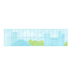 Window urban landscape vector
