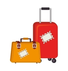 Travel suitcase accessory vector