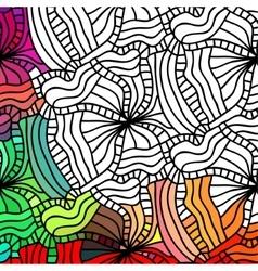 Abstract seamless fantasy pattern hand vector