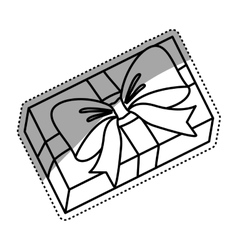 Gift box isolated vector