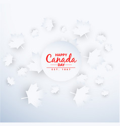 Beautiful canada day background vector