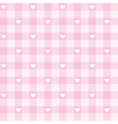 Seamless pink valentines background full of love vector