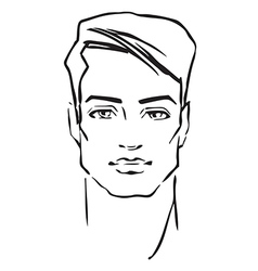 Man face fashion model vector