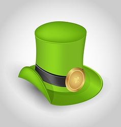 Green hat with buckle in saint patrick day - vector
