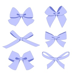 Set of vintage bows vector