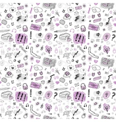 Accessories Hand drawn seamless pattern vector image