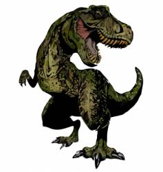 T-red dinosaur reptile vector