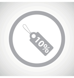 Grey discount sign icon vector