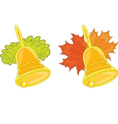 Bells with leaves vector