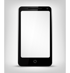 Smartphone with white screen vector