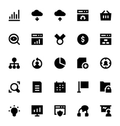 Seo web optimization icons 2 vector