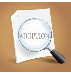 Adoption papers vector image vector image