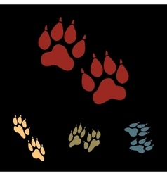 Animal tracks icon set vector
