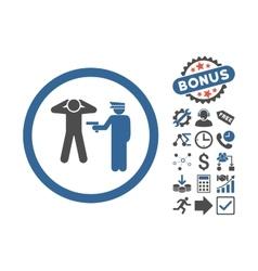 Arrest flat icon with bonus vector
