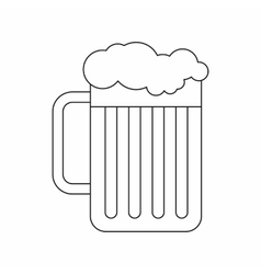 Beer mug icon outline style vector image vector image