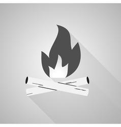 Bonfire logo labels and badges Travel emblems vector image vector image