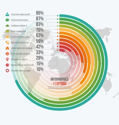Circle informative infographics 11 options vector