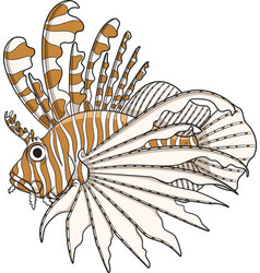 Color lionfish vector