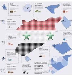 Dot and flag map of syrian arab republic vector