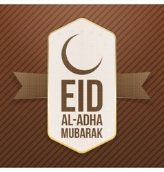 Eid al-adha mubarak festive tag vector