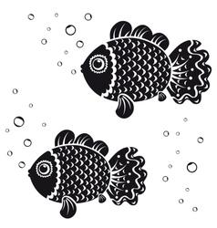 fish black vector image