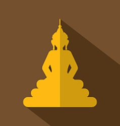 Flat design buddha icon vector