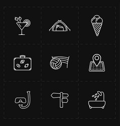 Free travel icons vector