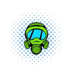 Gas mask icon comics style vector