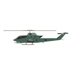 helicopter military war transport army air vector image
