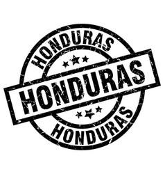 Honduras black round grunge stamp vector