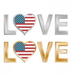 love the USA sign vector image