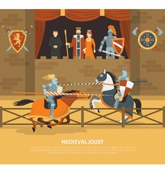 Medieval Joust vector image
