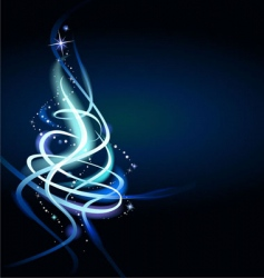modern abstract Christmas tree vector image vector image