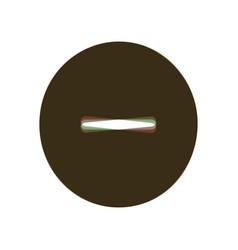 negative symbol minus sign vector image vector image