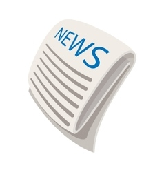 News cartoon icon vector image