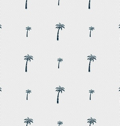 Palm sign Seamless pattern with geometric texture vector image vector image