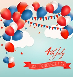 Retro american background with colorful balloons vector