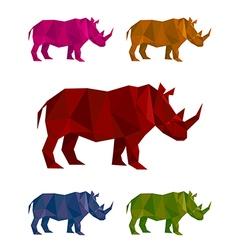 Rhino mozaic vector