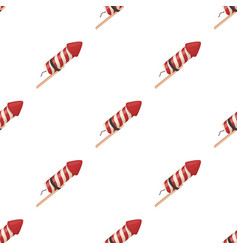 Salute of a rocket on a stickparty and parties vector