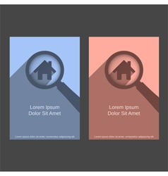 Search House Design vector image