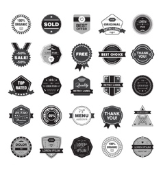 Set of retro hipster badges vector