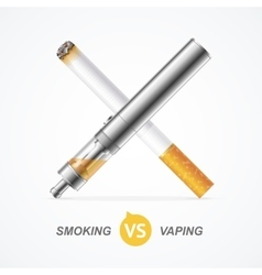 Smoking vs Vaping vector image vector image