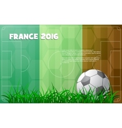 Soccer theme with ball and France flag vector image vector image