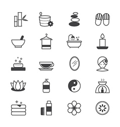 Spa Icons Line vector image