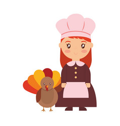 thanksgiving pilgrim design vector image