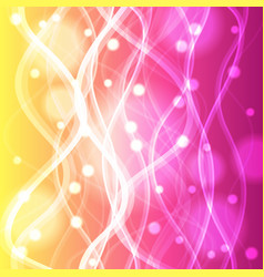Wavy lines on yellow and pink background vector