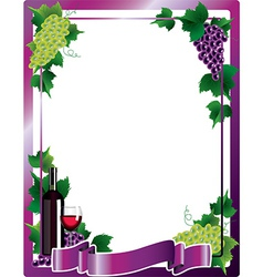 wine frame vector image