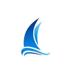 yacht boat marine sailing logo vector image vector image