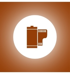 Flat camera film roll vector