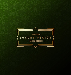 Luxury label badge vector